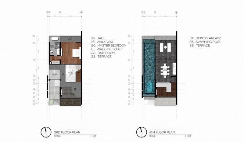 3rd & Rooftop FloorPlan (3Bed)