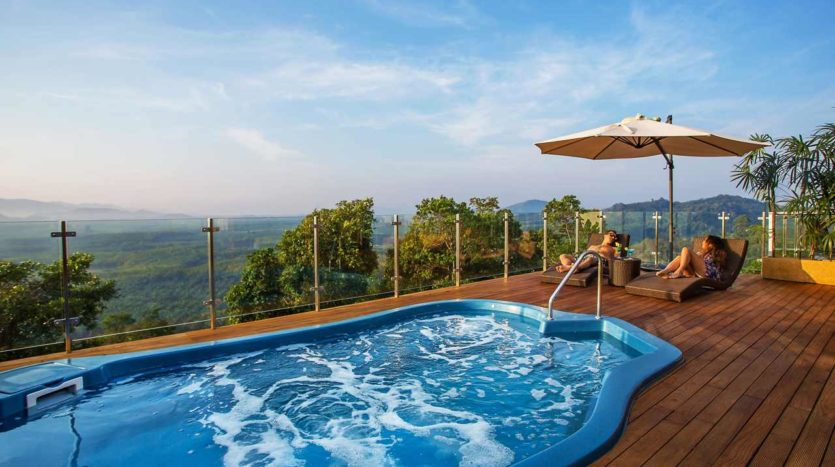 Pool Deck With Mountain View